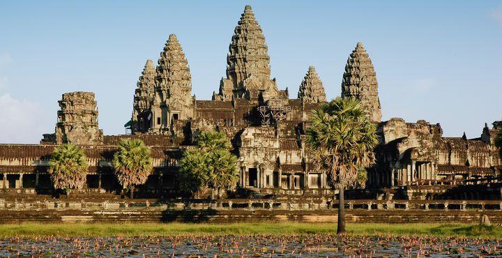 Ein Highlight Ihrer Reise ist die bekannte Tempelanlage Angkor Wat.