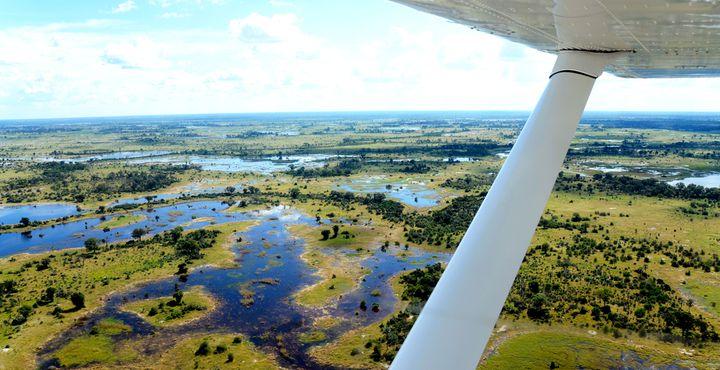 Ein Highlight Ihrer Rundreise ist der Flug über das Okavango Deta.