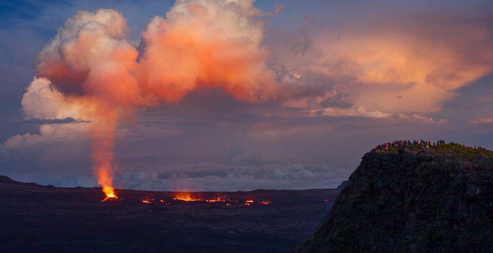 Der Piton de la Fournaise ist einer der aktivsten Vulkane der Welt. Die Landschaft verändert sich nach jedem Ausbruch.