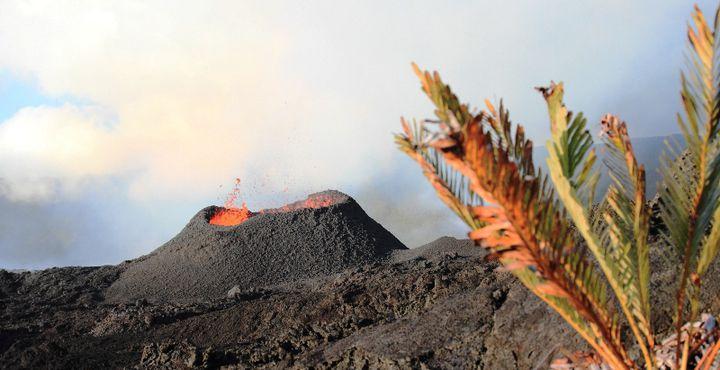 Der Vulkan Piton de la Fournaise zählt zu den aktivsten Vulkanen der Welt. Es gibt immer wieder kleinere Eruptionen, dabei tritt flüssige Lava aus in Richtung Meer.