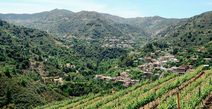 Das charmante Casale Panayiotis Traditional Village erwartet Sie an den Hängen des Gebirges.