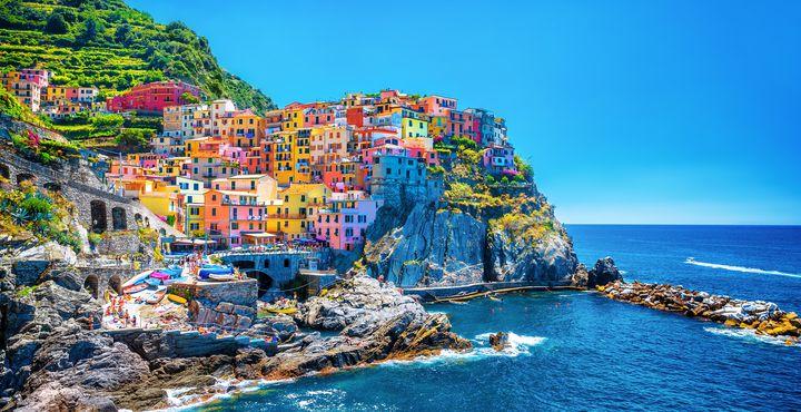 Cinque Terre - fünf Dörfer reihen sich an der italienischen Küste und laden zum Schlendern ein.