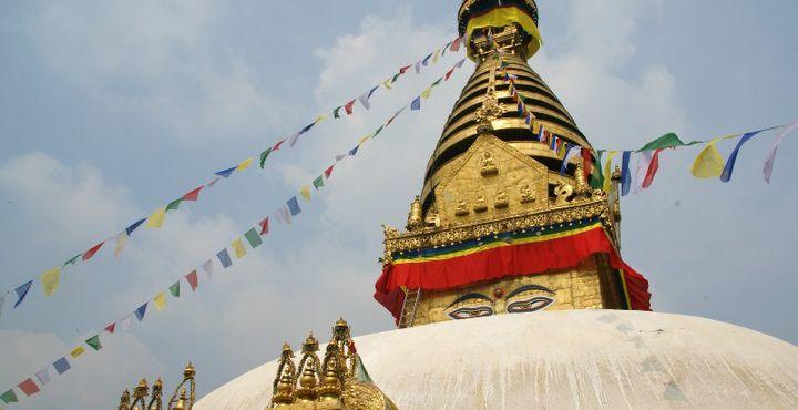Selbstverständlich darf ein Besuch der berühmten Boudhanath Stupa nicht fehlen.