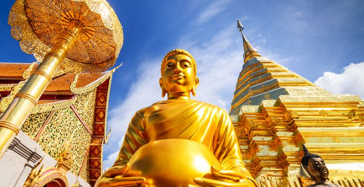Ein Besuch der buddhistischen Tempelanlage Wat Phra That Doi Suthep steht auf Ihrem Reiseplan.