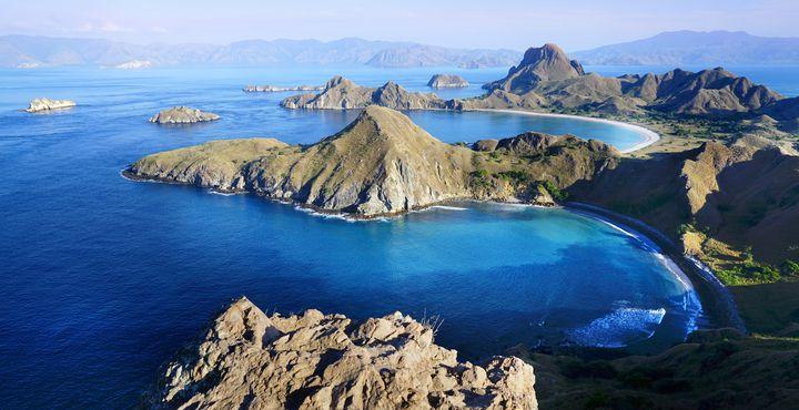 Die Padar Insel liegt genau zwischen Rinca und Komodo.