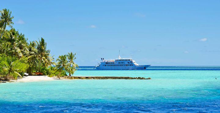 Während Ihrer Rundreise entdecken Sie kleine Inseln, türkisblaues Wasser und Palmen.