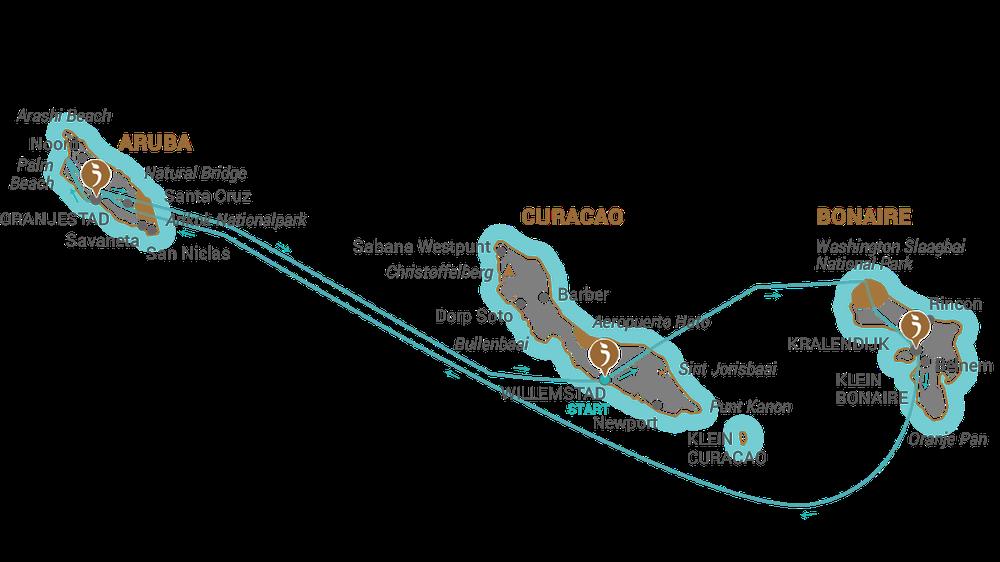 Aruba Karte Karibik.Abc Inselhüpfen Itravel De