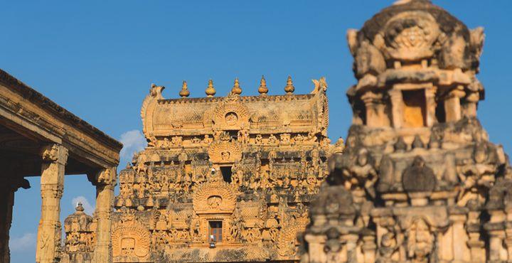 Der Hindutempel Sri Brihadeshwara ist ein wichtiges Beispiel der Chola Architektur. Treten Sie ein und bestaunen Sie diese großartige Sehenswürdigkeit, Bild: Marko Roth Productions